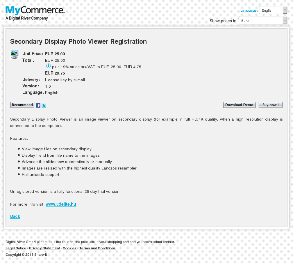 Secondary Display Photo Viewer Registration Howto