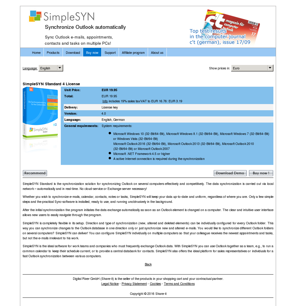 Simplesyn Standard License Howto