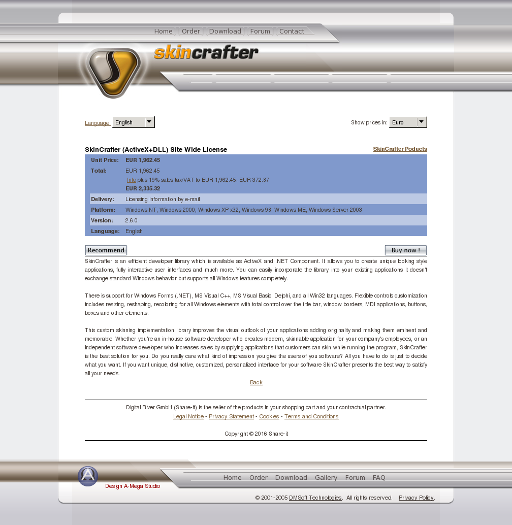 Skincrafter Activex Dll Site Wide License