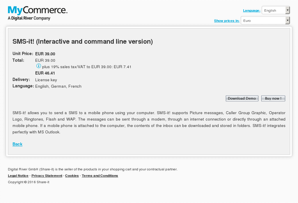 Sms Interactive Command Line Version Howto