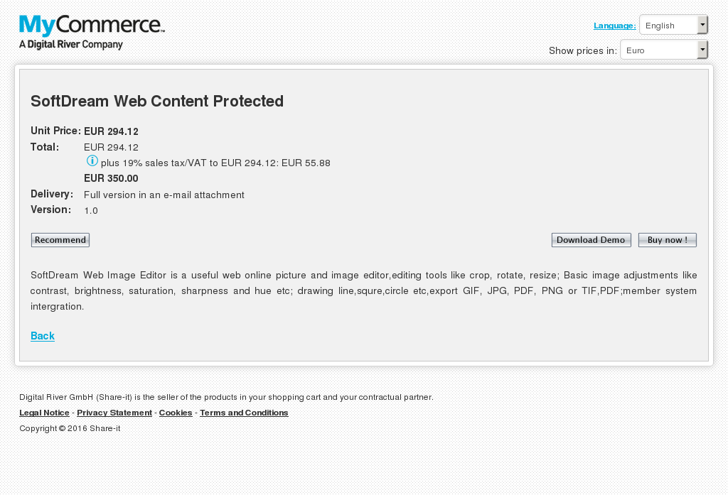 Softdream Web Content Protected