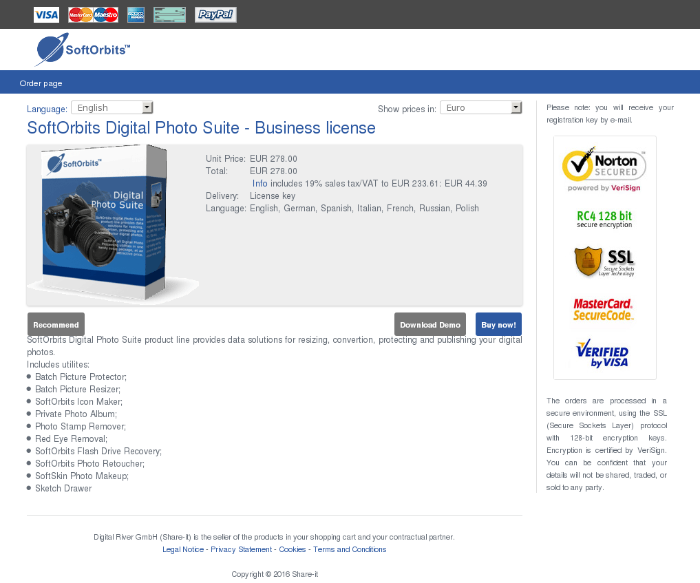 Softorbits Digital Photo Suite Business License Free
