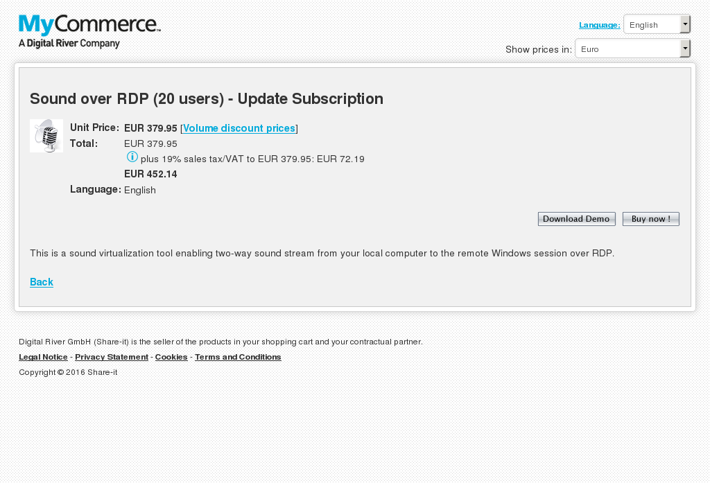 Sound Over Rdp Users Update Subscription Key Information