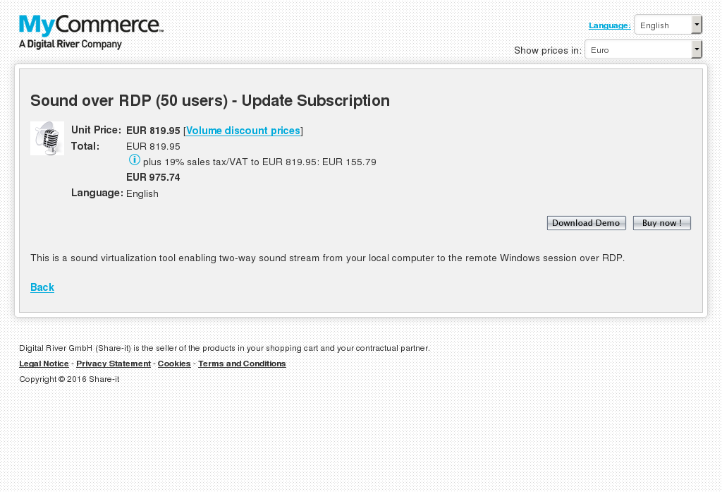 Sound Over Rdp Users Update Subscription Features