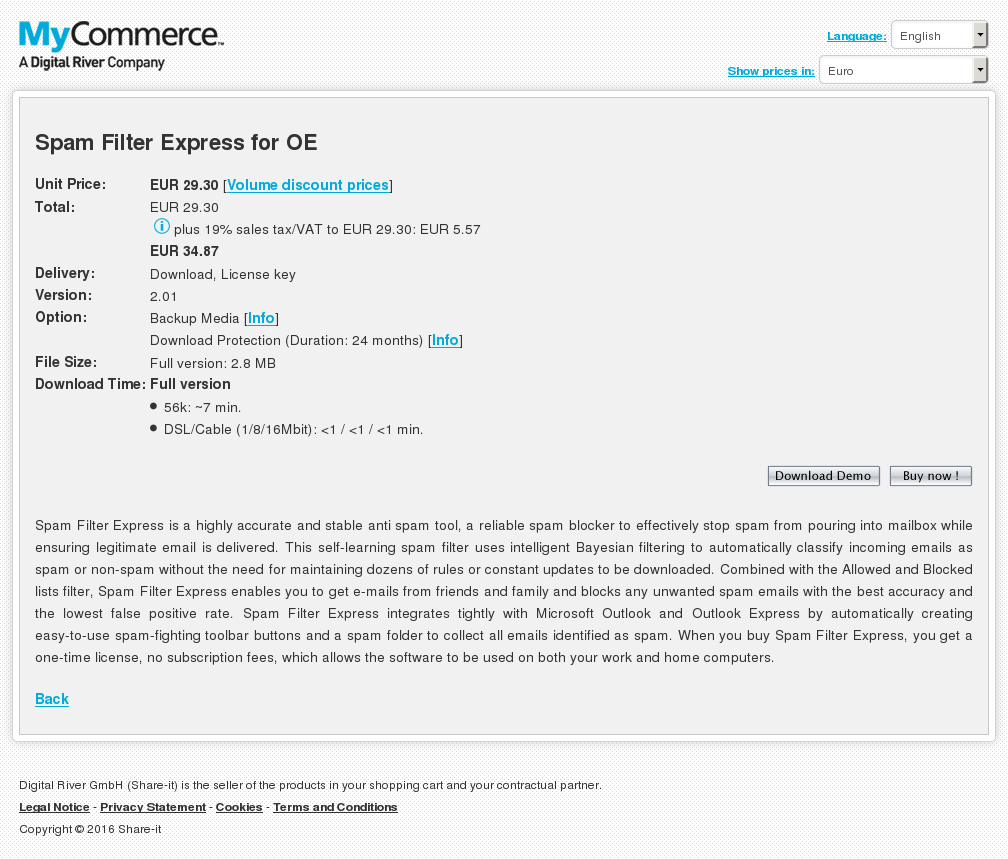 Spam Filter Express Review
