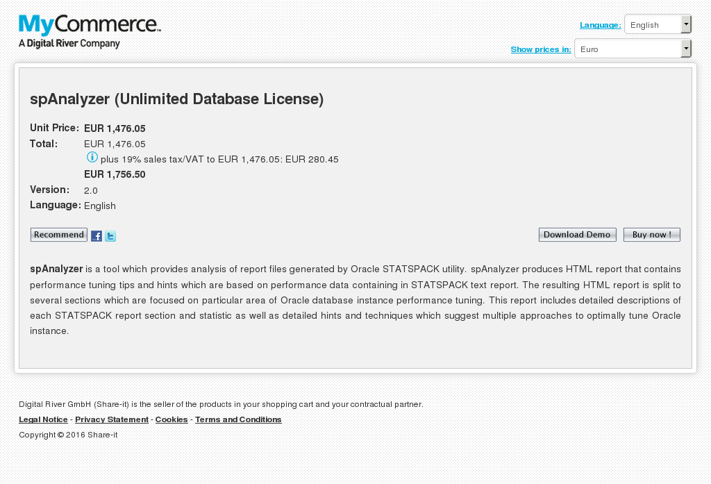 Spanalyzer Unlimited Database License Howto