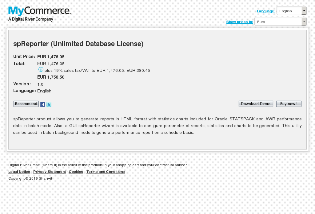 Spreporter Unlimited Database License Alternative