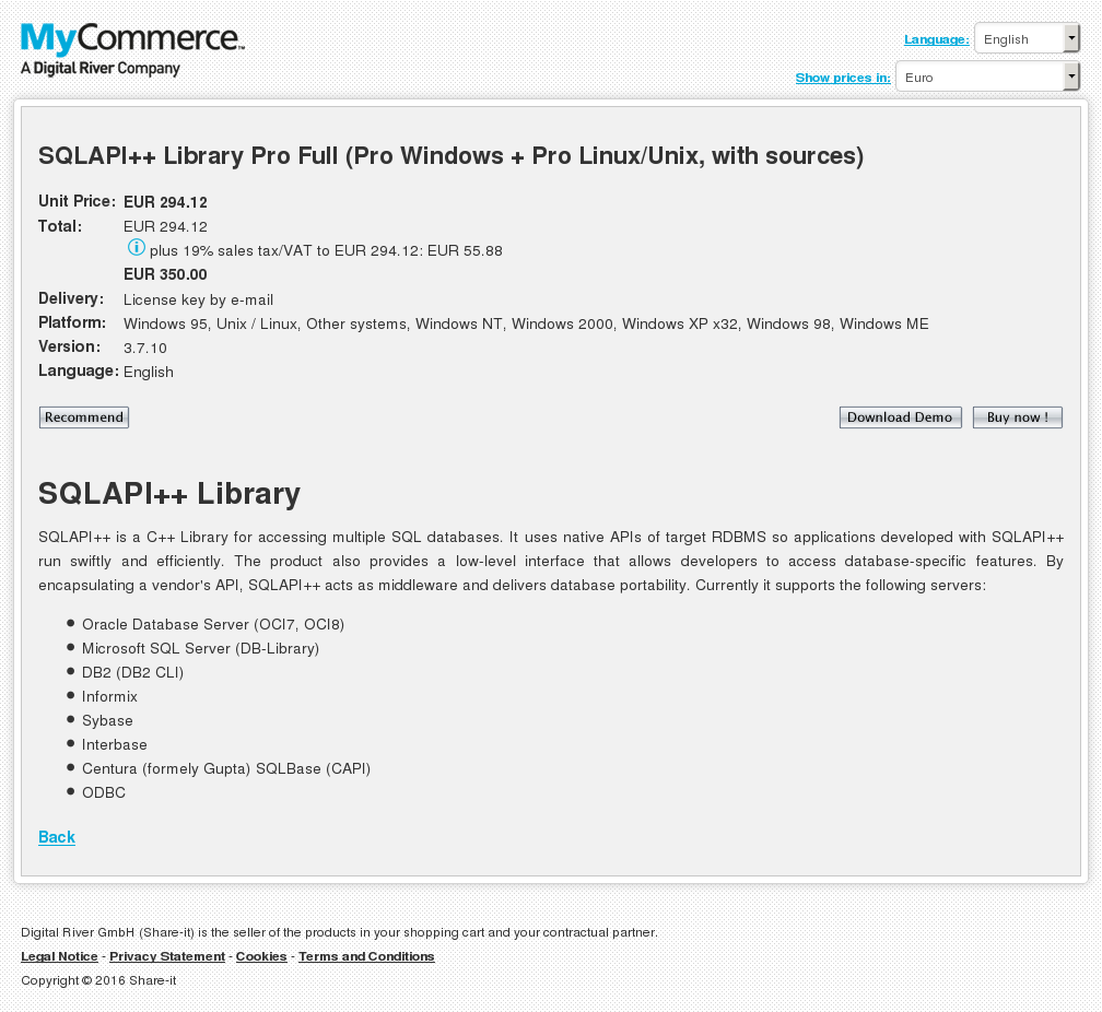 Sqlapi Library Pro Full Windows Linux Unix With Sources