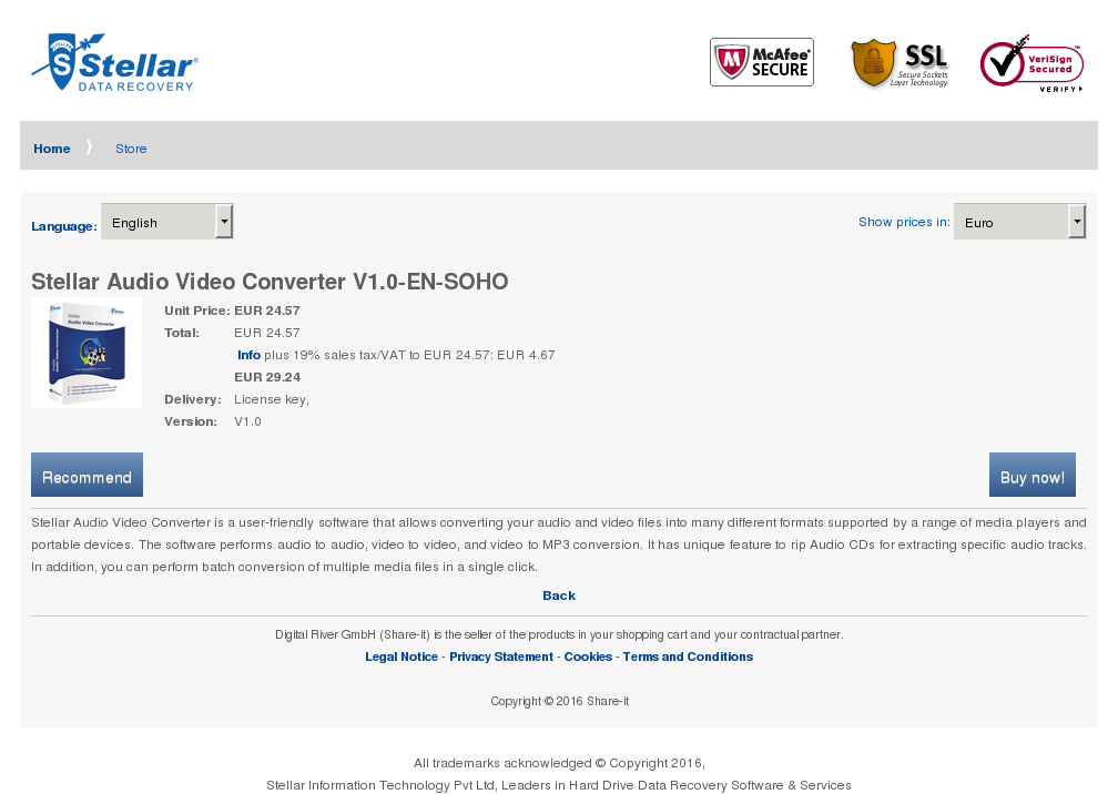Stellar Audio Video Converter Soho Download