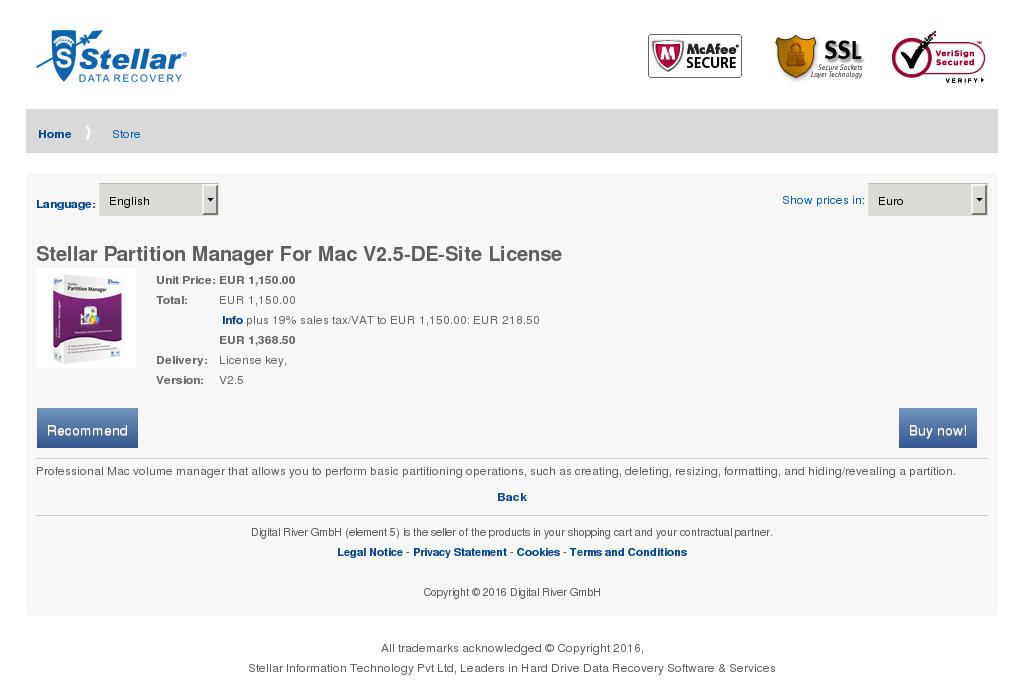 Stellar Partition Manager Mac Site License Features