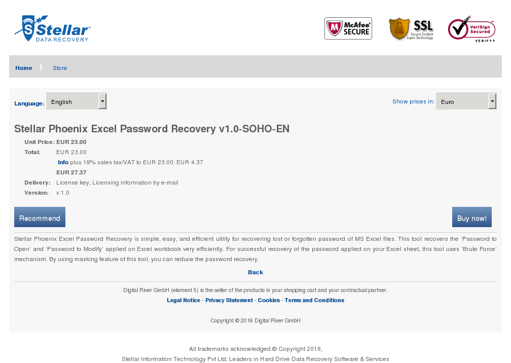 Stellar Phoenix Excel Password Recovery Soho Download