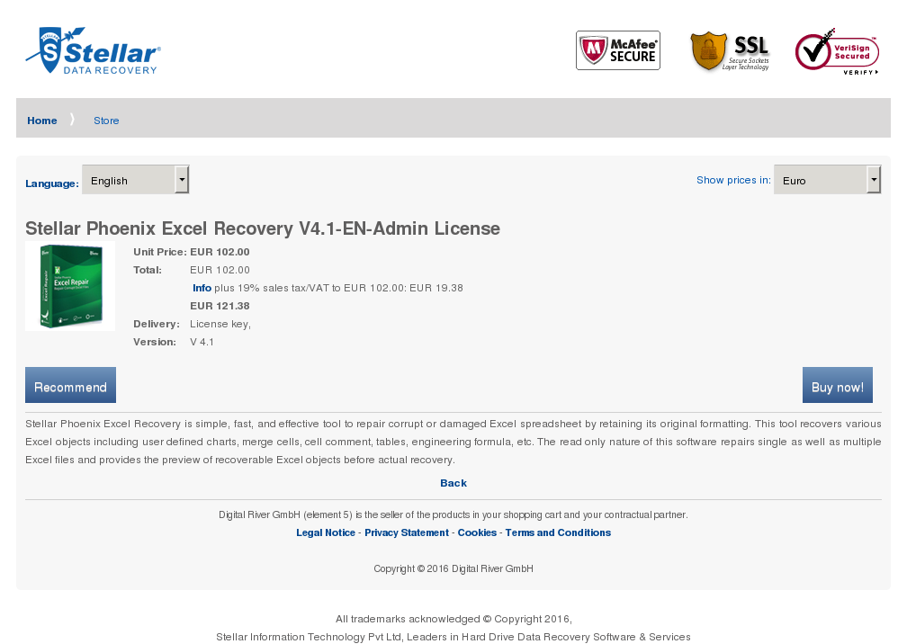 Stellar Phoenix Excel Recovery Admin License Review