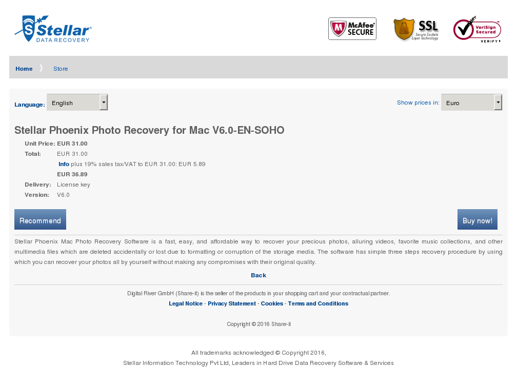 Stellar Phoenix Photo Recovery Mac Soho Alternative