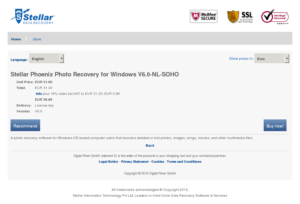Stellar Phoenix Photo Recovery Windows Soho Key Information