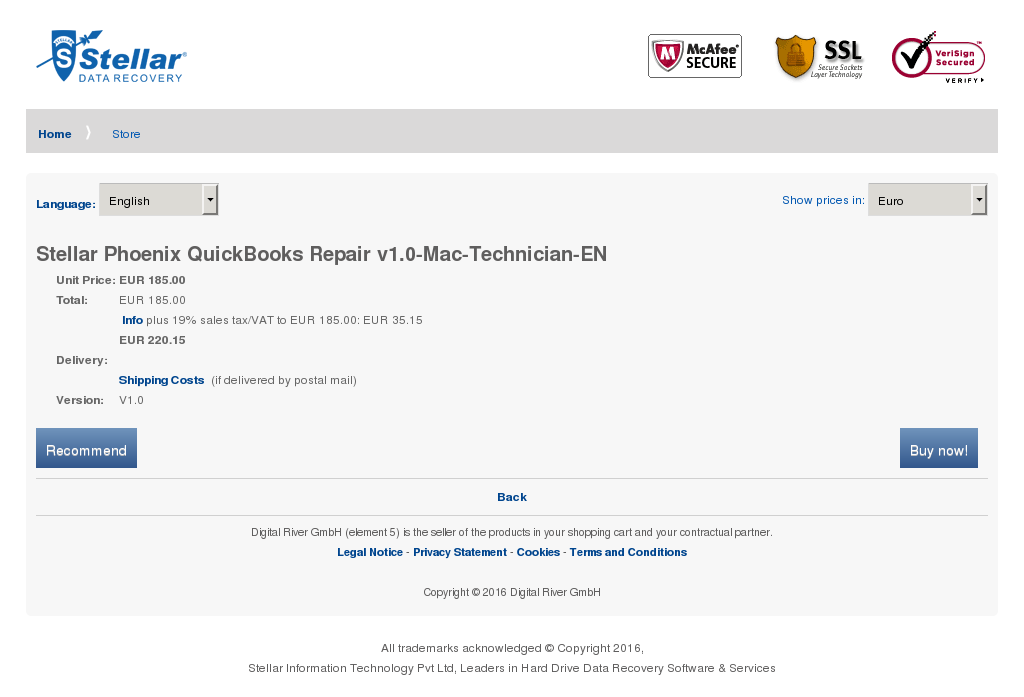 Stellar Phoenix Quickbooks Repair Mac Technician Review