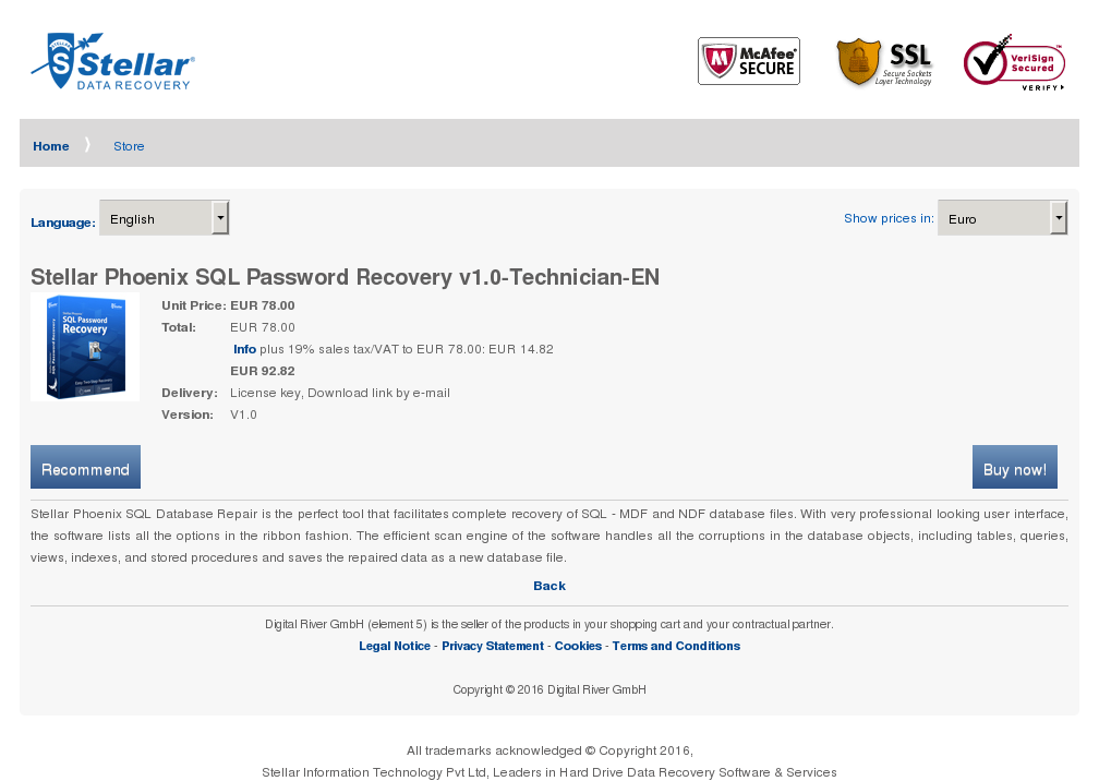 Stellar Phoenix Sql Password Recovery Technician Review