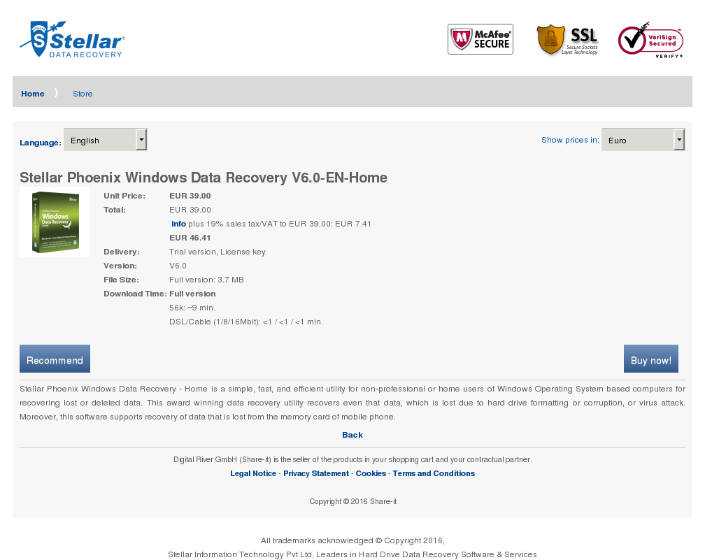 Stellar Phoenix Windows Data Recovery Home Alternative