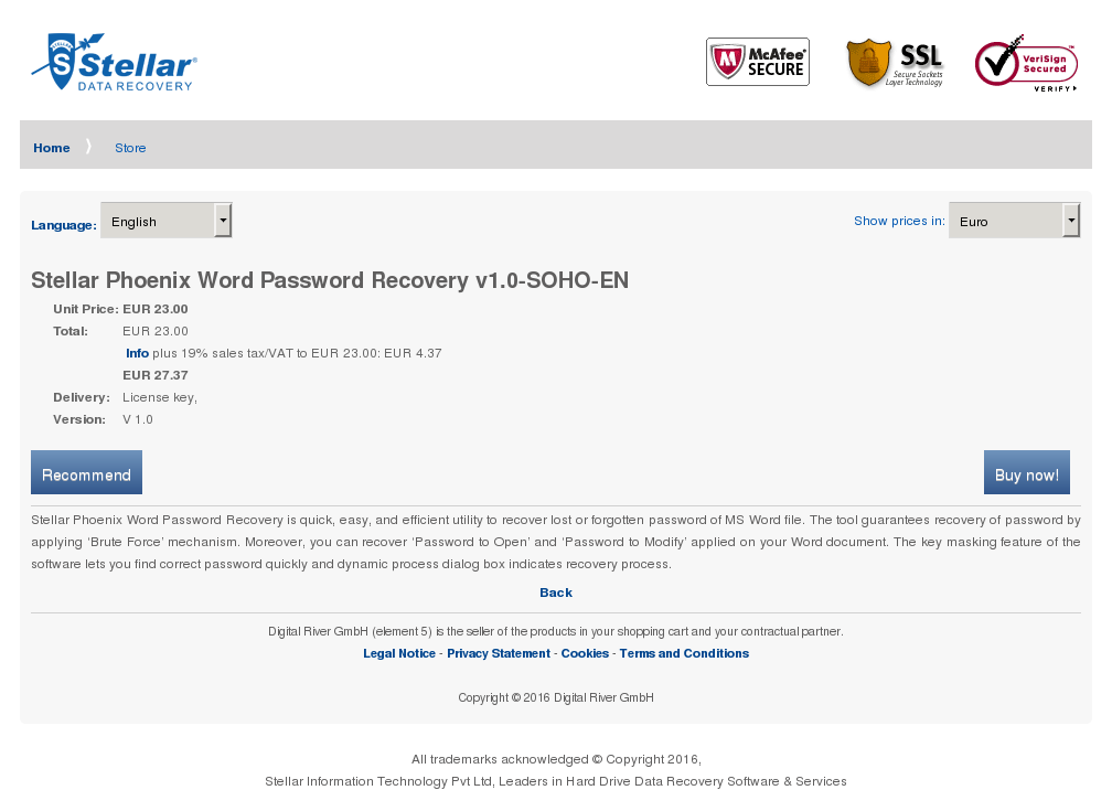 Stellar Phoenix Word Password Recovery Soho Howto