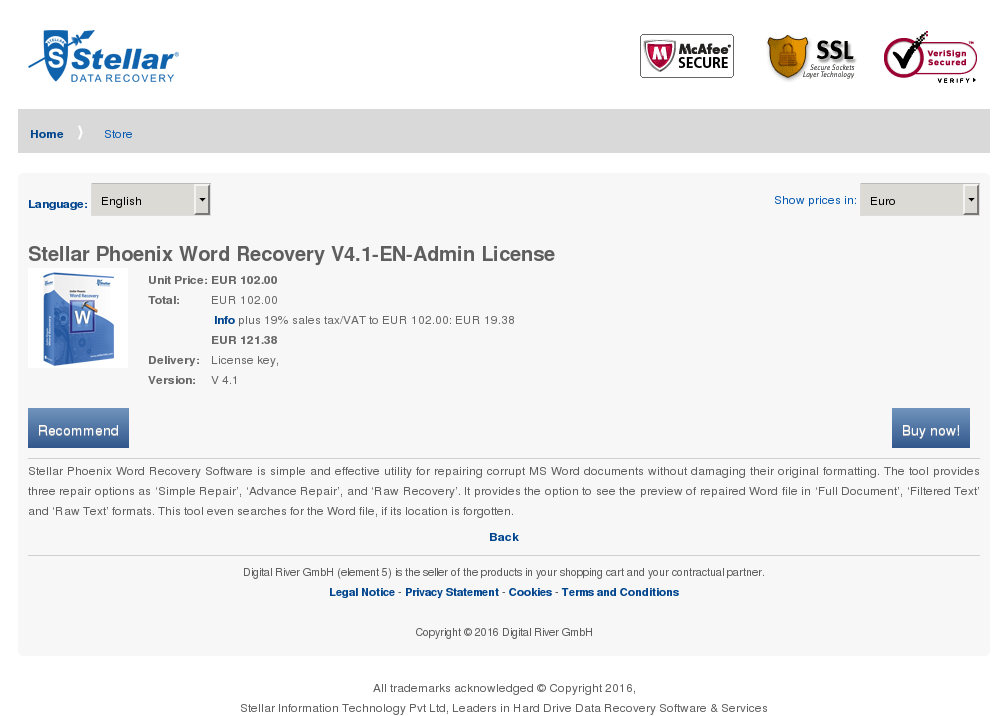 Stellar Phoenix Word Recovery Admin License Download