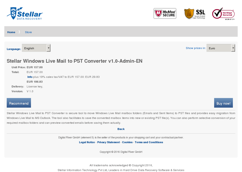 Stellar Windows Live Mail Pst Converter Admin Alternative