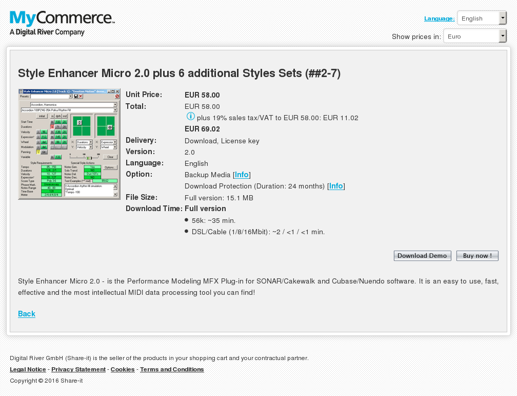 Style Enhancer Micro Plus Additional Styles Sets Download