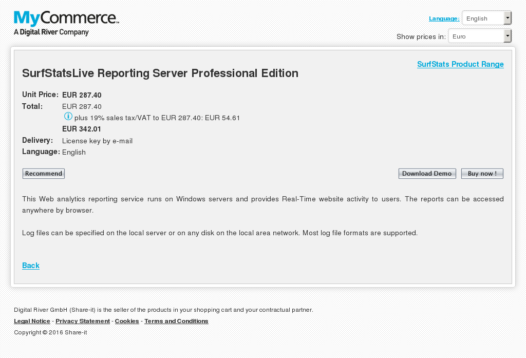 Surfstatslive Reporting Server Professional Edition Review