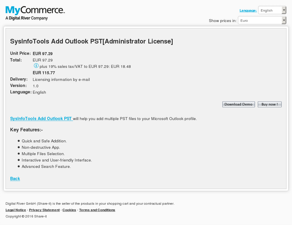 Sysinfotools Add Outlook Pst Administrator License Howto