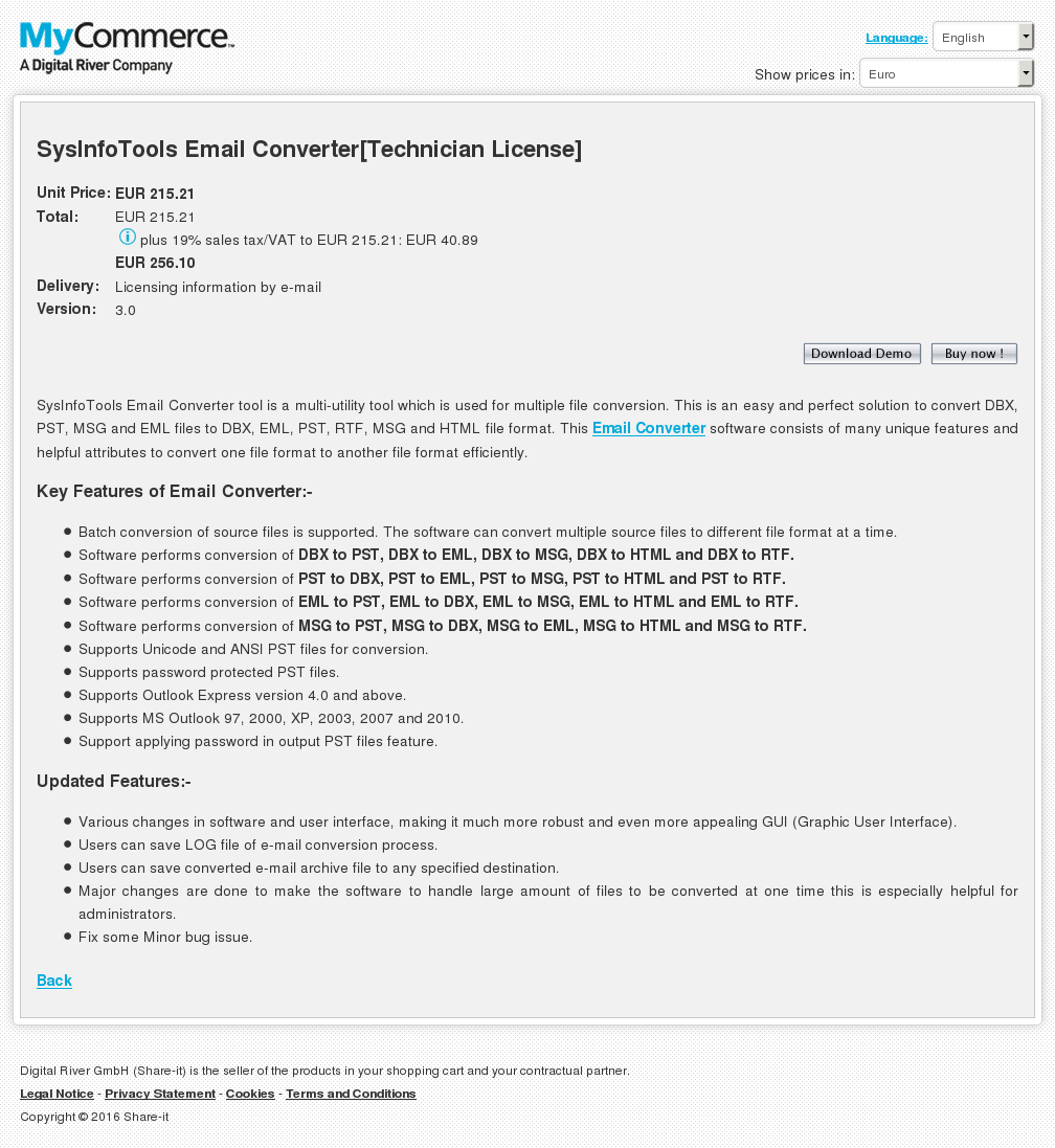 Sysinfotools Email Converter Technician License Alternative