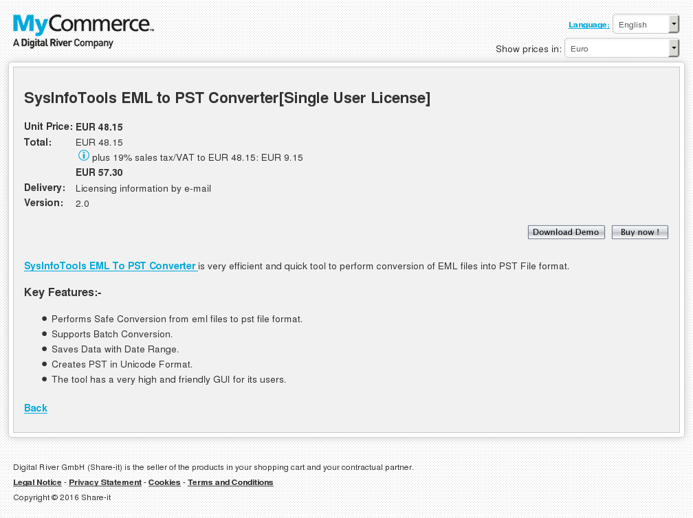 Sysinfotools Eml Pst Converter Single User License Howto