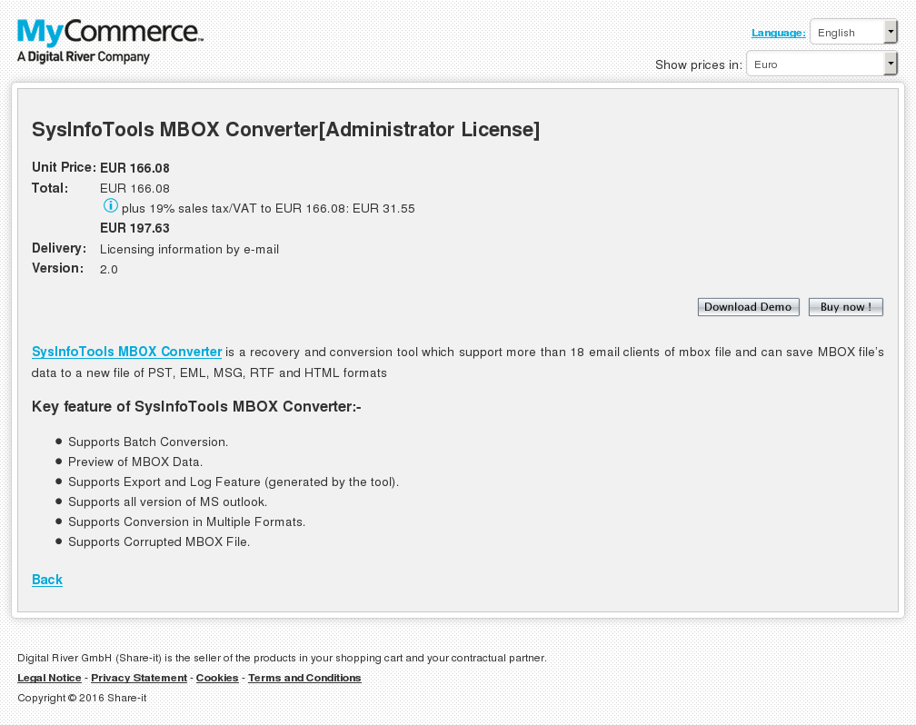 Sysinfotools Mbox Converter Administrator License Alternative