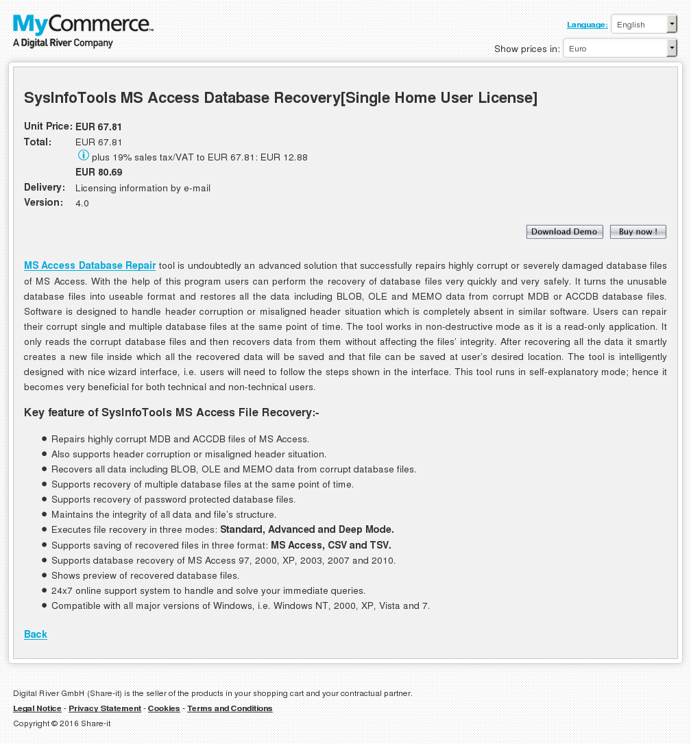 Sysinfotools Access Database Recovery Single Home User License Review