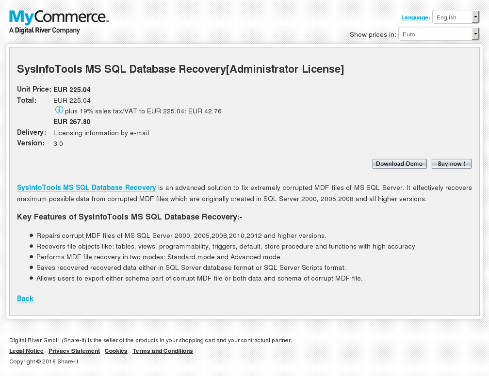 Sysinfotools Sql Database Recovery Administrator License Review