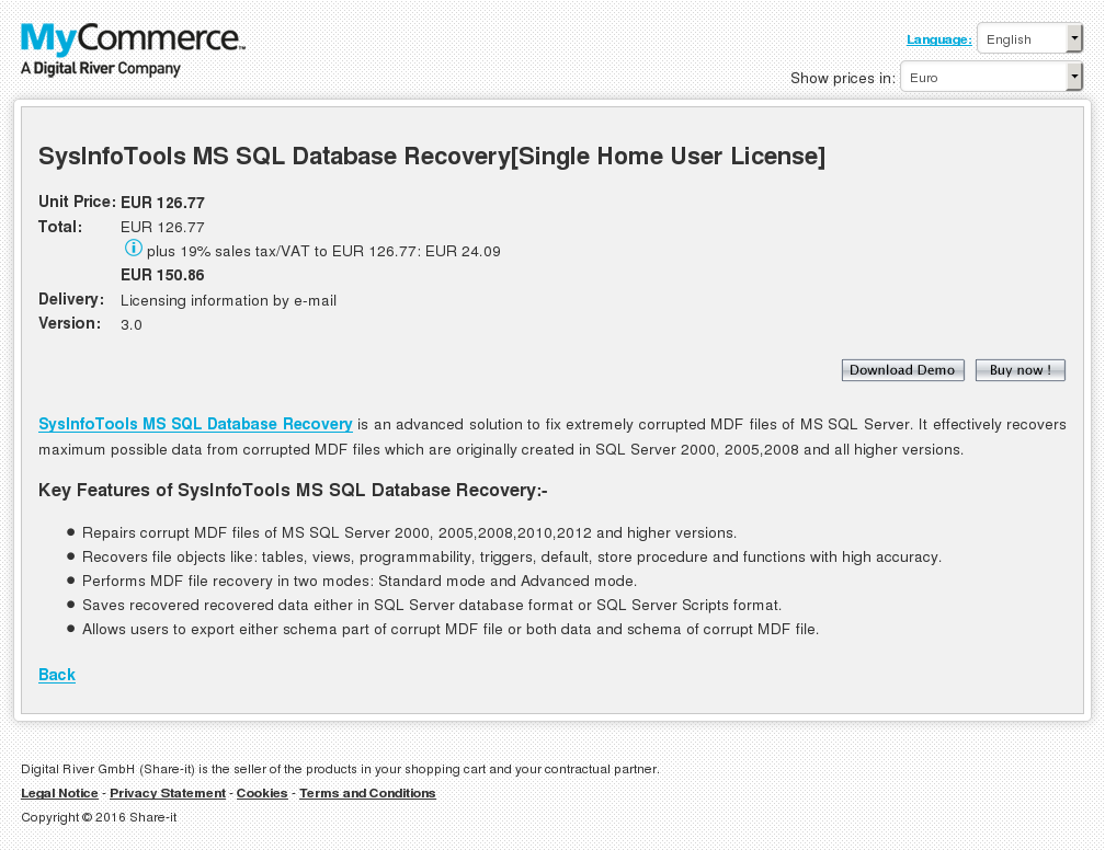 Sysinfotools Sql Database Recovery Single Home User License Review