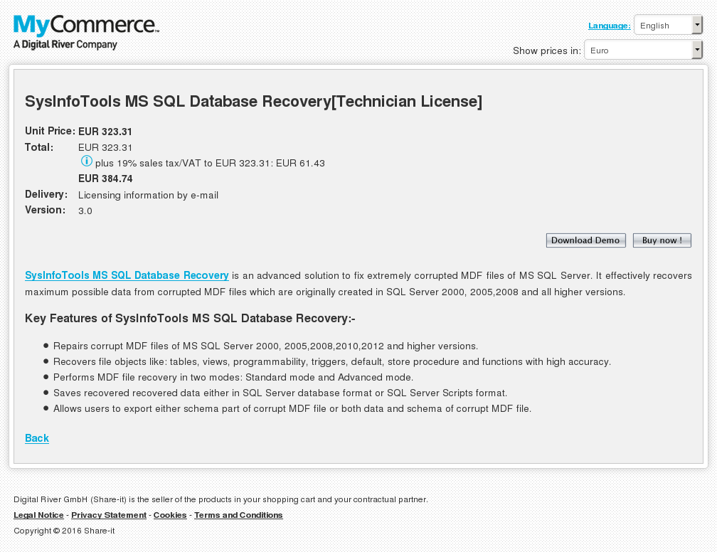 Sysinfotools Sql Database Recovery Technician License Howto