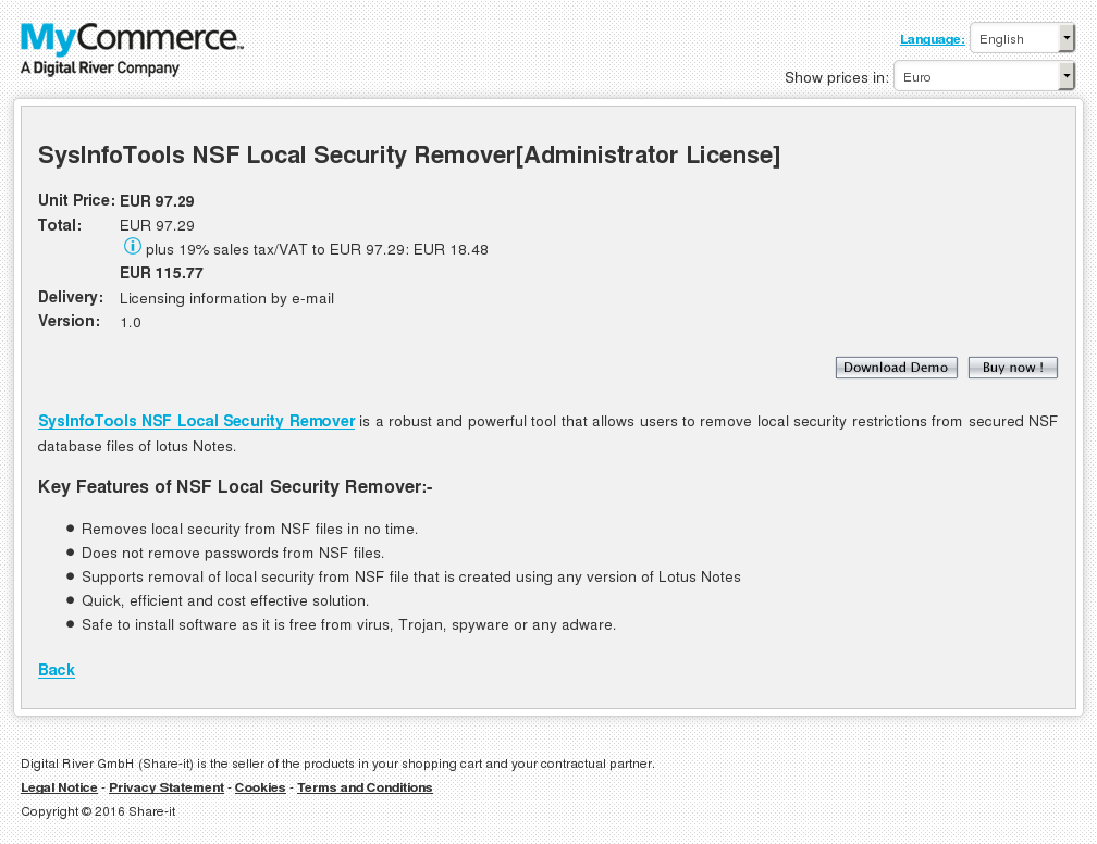 Sysinfotools Nsf Local Security Remover Administrator License Download