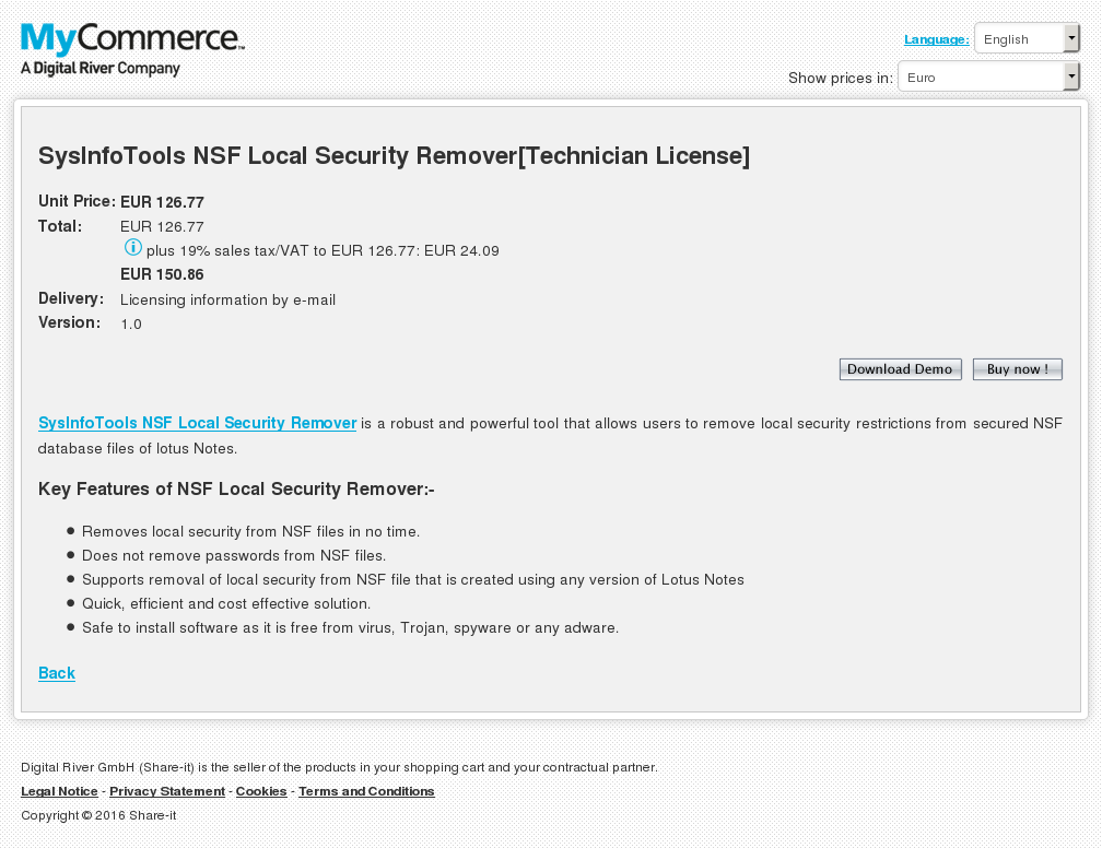 Sysinfotools Nsf Local Security Remover Technician License Download