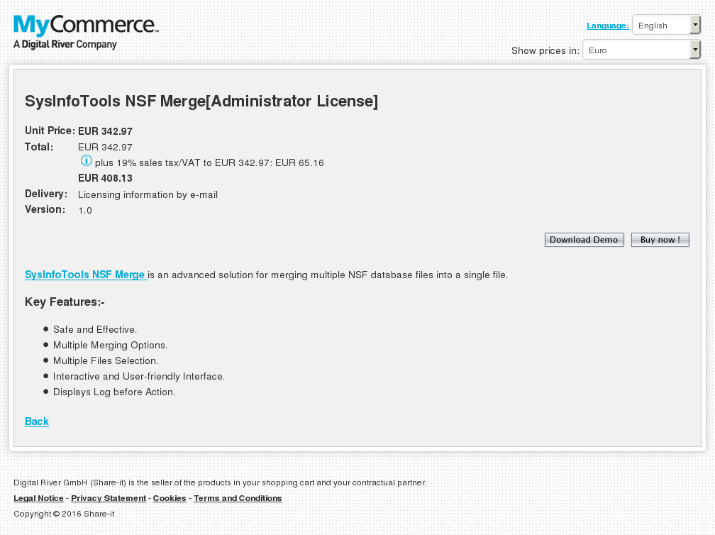 Sysinfotools Nsf Merge Administrator License Download