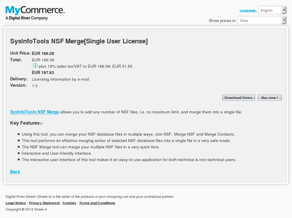 Sysinfotools Nsf Merge Single User License Review