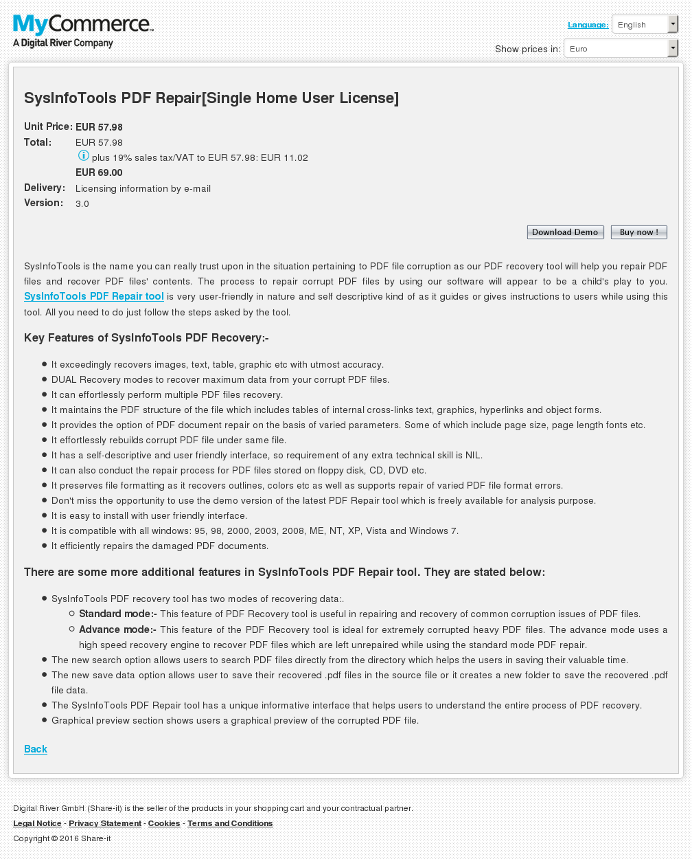 Sysinfotools Pdf Repair Single Home User License Howto