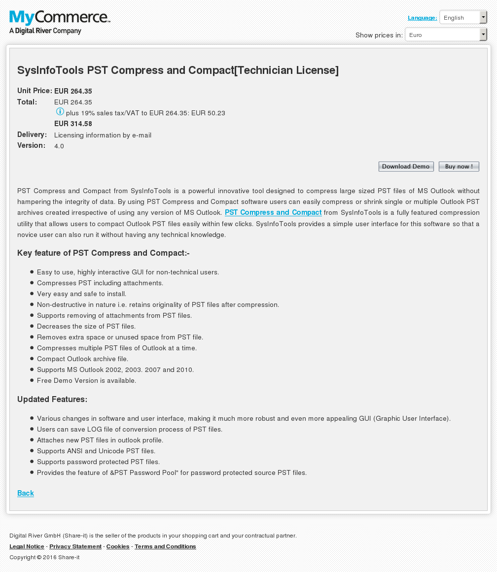 Sysinfotools Pst Compress Compact Technician License Howto