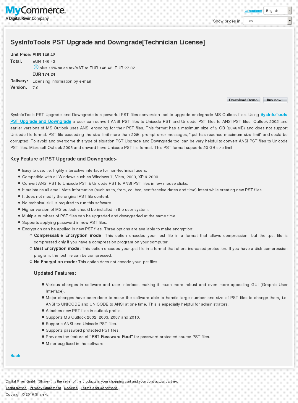 Sysinfotools Pst Upgrade Downgrade Technician License Review