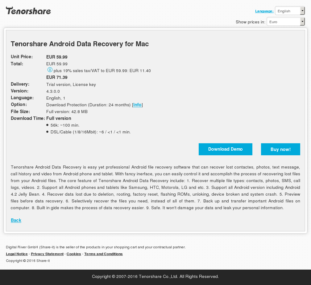 Tenorshare Android Data Recovery Mac Review