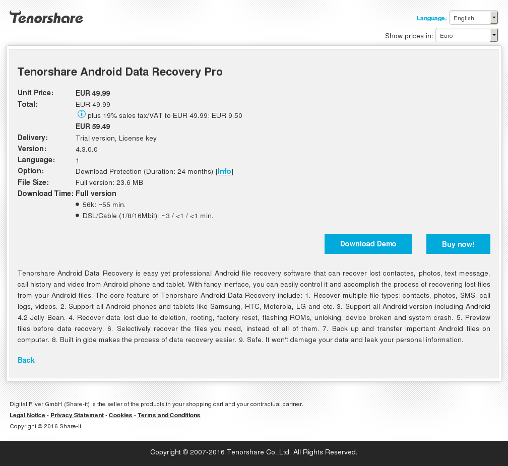 Tenorshare Android Data Recovery Pro Howto