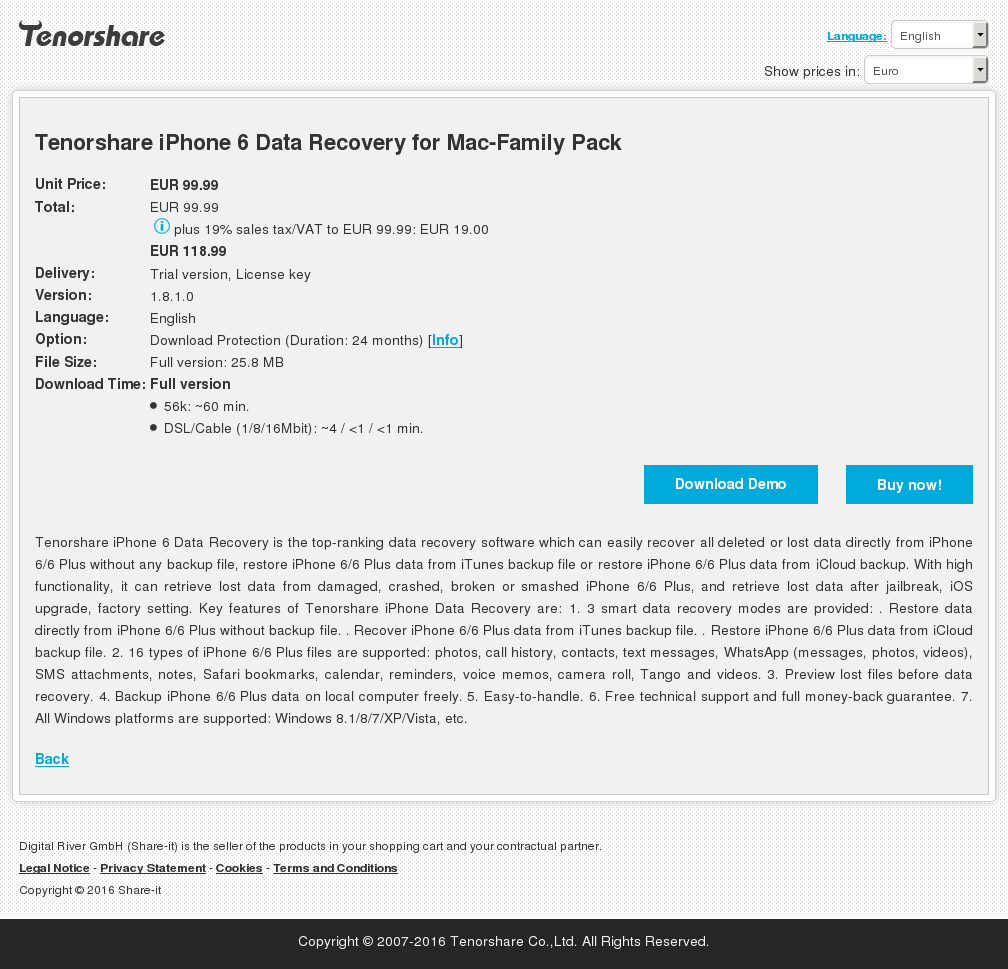Tenorshare Iphone Data Recovery Mac Family Pack Download