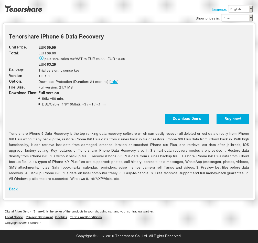 Tenorshare Iphone Data Recovery Free