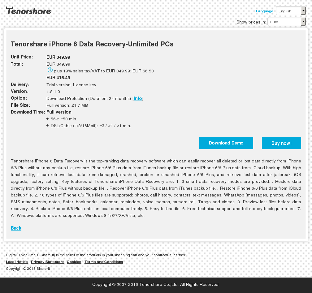 Tenorshare Iphone Data Recovery Unlimited Pcs Features