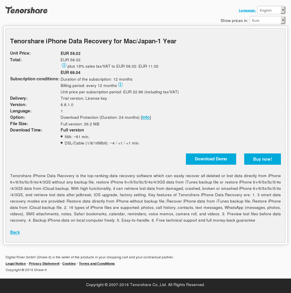 Tenorshare Iphone Data Recovery Mac Japan Year Howto