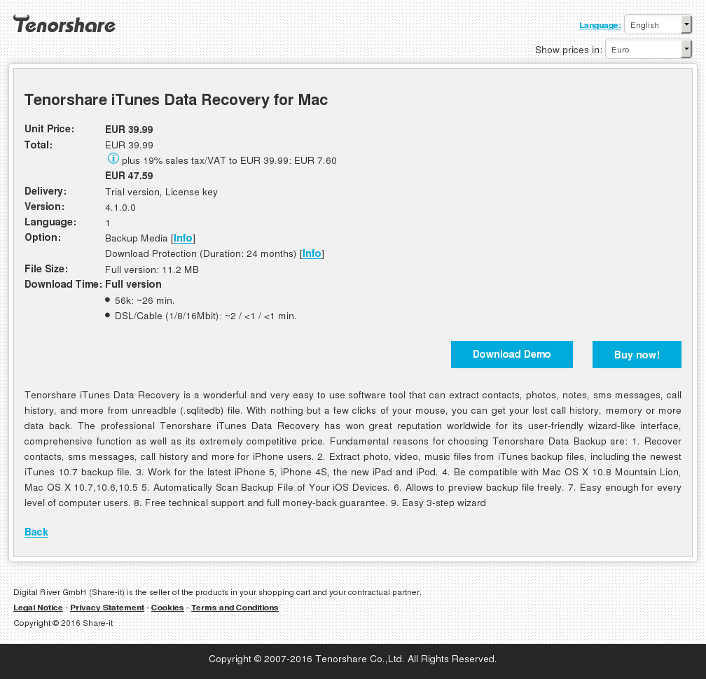 Tenorshare Itunes Data Recovery Mac Download