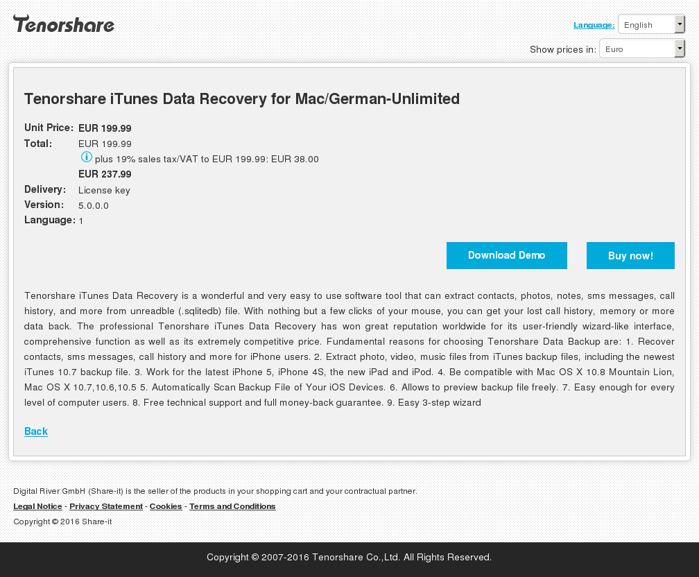 Tenorshare Itunes Data Recovery Mac German Unlimited Download