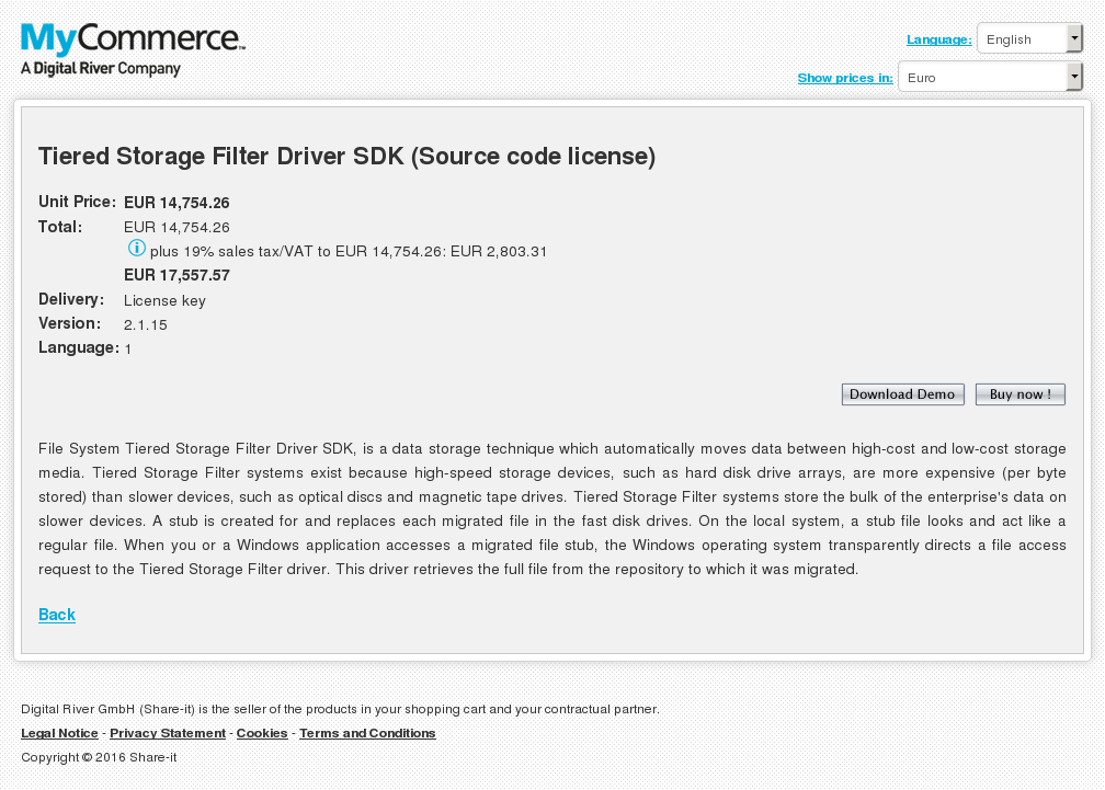 Tiered Storage Filter Driver Sdk Source Code License